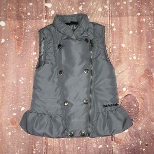 Calvin Klein Zip Up Gray Puffer Vest 4T